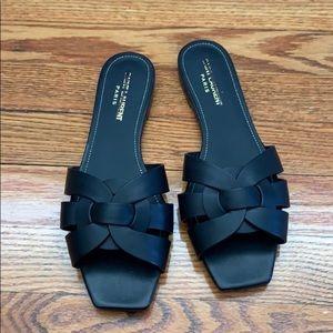 Saint Laurent New black tribute sandal